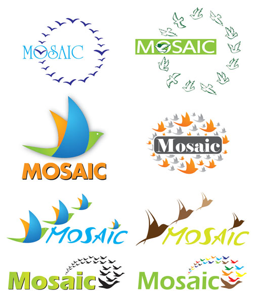 Mosaic Logo Options