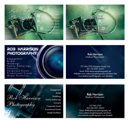Rob Harrison Business Card Options