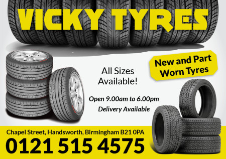 Vicky Tyres A5 Flyer1